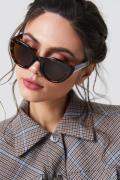 NA-KD Accessories Cat Eye Sunglasses - Brown,Multicolor