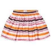 Il Gufo Orange and Pink Stripe Skirt 2 years