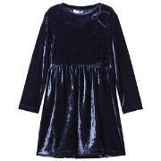 Il Gufo Navy Velvet Party Dress 2 years