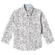 Paul Smith Junior Cream Domino Print Shirt 2 years