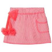 Billieblush Pink Stripe Skirt with Tulle Bow 2 years
