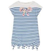 Billieblush Blue Stripe Beaded Bow Detail Jersey Dress 5 years