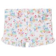 Dr Kid White Floral Frill Shorts 6 months