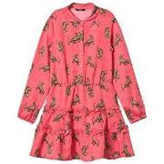 Guess Pink Tiger Print Shirt Dress 12 years