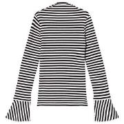 Les Coyotes De Paris Black And White Stripe Josee Blouse 8 år