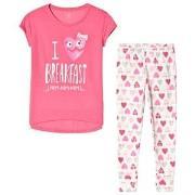 GAP Heart Short Sleeve Sleep Set Shocking Pink 6 (6 Years)