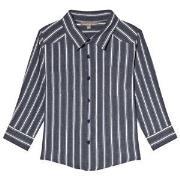 Emile et Ida Blue Rayure Striped Shirt 2 år
