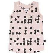NUNUNU Braille Tanktop Powder Pink 2-3 år
