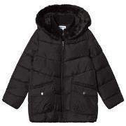 Mayoral Black & Faux Fur Trim Padded Coat 8 years