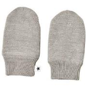 Molo Snowflake Mittens Grey Melange 3-6 mnd