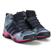 adidas Performance Purple and Pink Terrex Mid Hiking Boots 34 (UK 2)