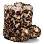 Dolce & Gabbana Brown Leopard Faux Fur Boots 25 (UK 8)