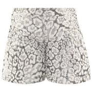 Miss Grant Lurex Leopard Print Shorts Off White/Silver 122-128 (8 Year...