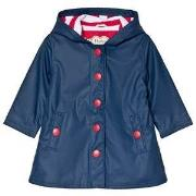 Hatley Navy with Red Stripe Splash Jacket 2 years
