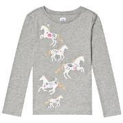 GAP Graphic Long Sleeve T-Shirt Grey Heather XS (4-5 år)