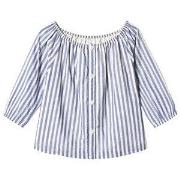 GAP Bttn Rgln Top Blue Stripe XS (4-5 år)