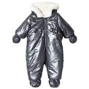 Absorba Navy Bow Detail Shimmer Faux Fur Lined Snowsuit with Booties a...