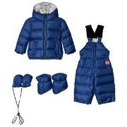 Colmar Blue with Silver Lining Padded Down Snowsuit Set 9 months