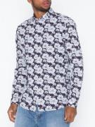 Jack & Jones Jprluca Print Shirt L/S Pre Skjorter Mørk lilla