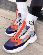 Calvin Klein Jeans maya trainers in navy mix-Multi