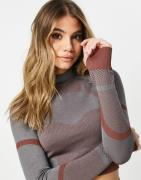 ASOS 4505 seamless base layer long sleeve top with contours-Multi