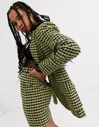 ASOS DESIGN neon boucle suit dad blazer-Multi